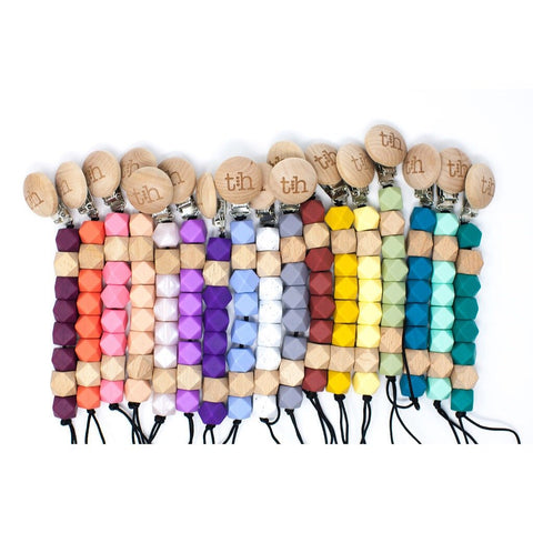 Pacifier Clips Eden in Multiple Colors