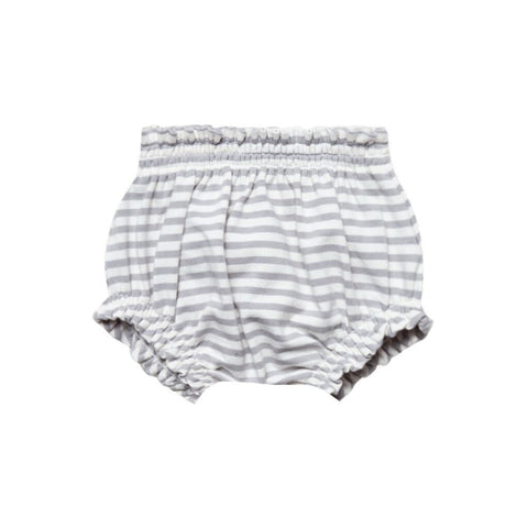 Grey Stripe Gathered Bloomers
