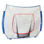 (Net Replacement Only) Baseball / Softball Net for Hitting & Pitching 7' x 7' - Blue / Red