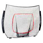 (Net Replacement Only) Baseball / Softball Net for Hitting & Pitching 7' x 7' - Black / Red