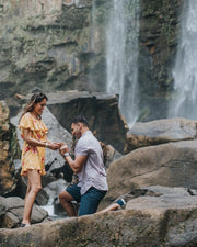 Fairytale Waterfall Picnic Proposal