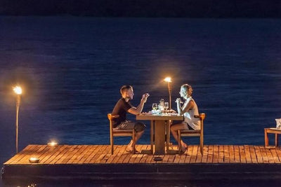 Romantic Private Island Proposal & Overnight