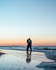 Blissful Sunset Beach Proposal & Dinner