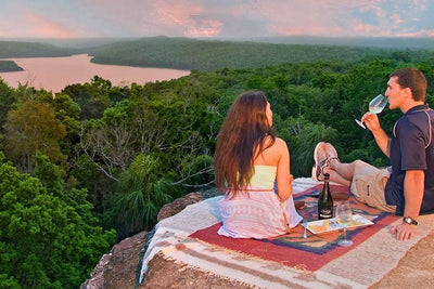 Exotic Mayan Ruins Sunset Proposal