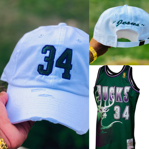 "Ray Allen ""Jesus"" NBA Jersey Dad Cap"
