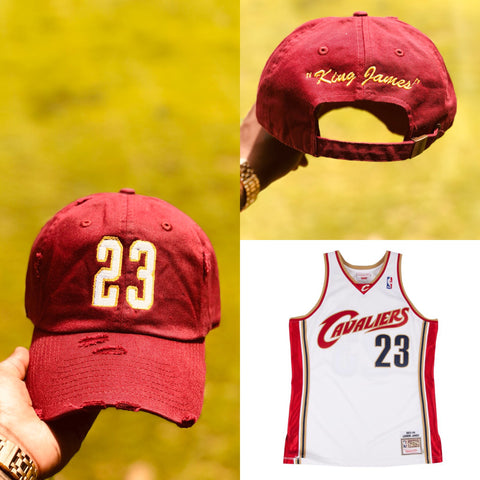"Lebron James ""King James"" Jersey Dad Cap"