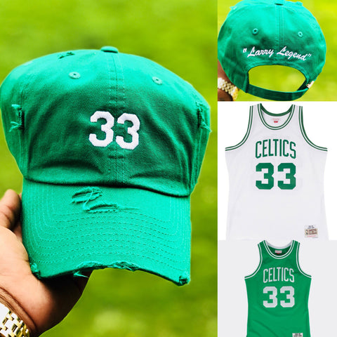 "Larry ""Larry Legend"" Bird NBA Jersey Dad Cap"