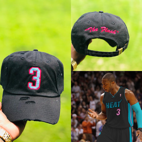 "Dwayne Wade ""The Flash""  NBA Jersey Dad Cap"