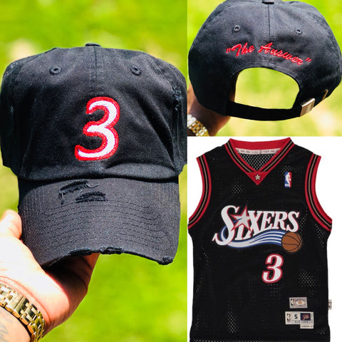 "Allen Iverson  ""The Answer "" Jersey Dad Cap"