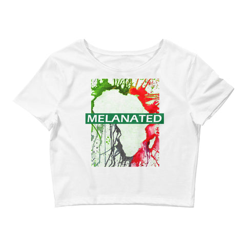 Women's  Melanin Crop Tee