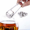 FREE Reusable Stainless Steel Whiskey Ice Cube Chiller Stone Rocks Drink Whisky Wine Beer Party and Bar Gift