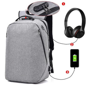Anti Theft Backpack - Business 15in Laptop Canvas