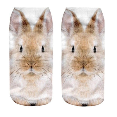 Cool 3D Animal Print Sport Socks Low Cut Ankle Comfortable Slipper Wear