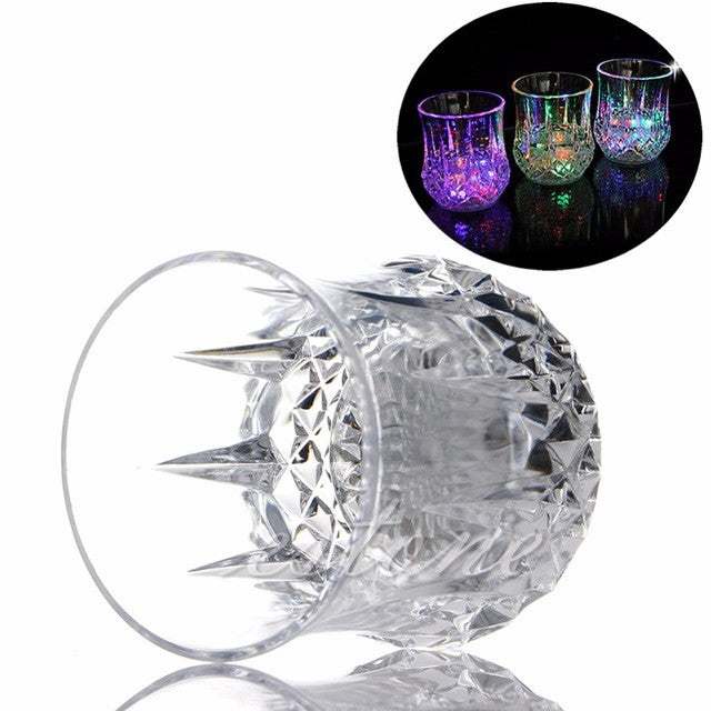 LED Flashing 7 Color Whiskey Beer Drink Shot Glass Cup For Bar Party Wedding Decor Gift