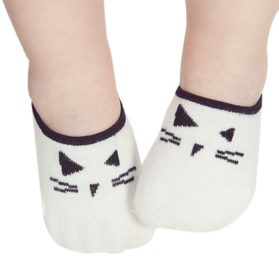 Cool Cat Whiskers Cartoon Print Baby Socks Lovely Newborn Boy Girl Antislip