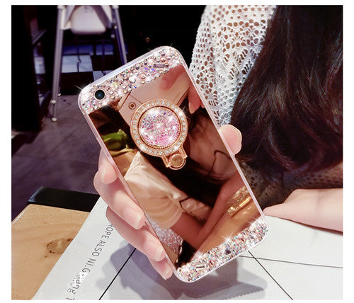 Bling Diamond Ring Mirror Soft Case
