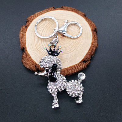 Creative Rhinestones Alloy Key Chain Ring Keyring Metal Keychain Adjustable