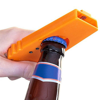 Cap Zappa Bottle Opener Flying Cap Bottle Opener Cap Launcher Beer Openers with Key Ring Support Span Over 5M