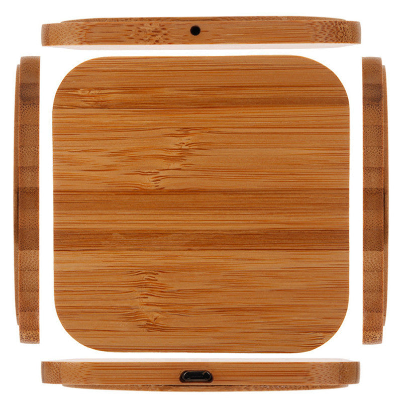 Qi Bamboo Wireless Square Charger