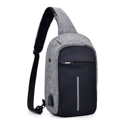 External USB Charge Backpack Men Anti Theft Lock Small School Bags Male Travel Backpacks With Headphone Perforation travel bag