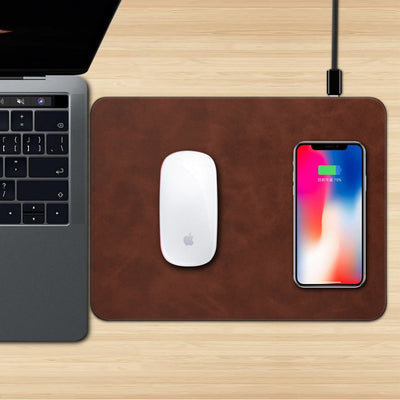 2-in-1 Mouse Pad + Qi Wireless Phone Charger Mat