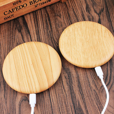 Qi Wireless Wood Disk Charger