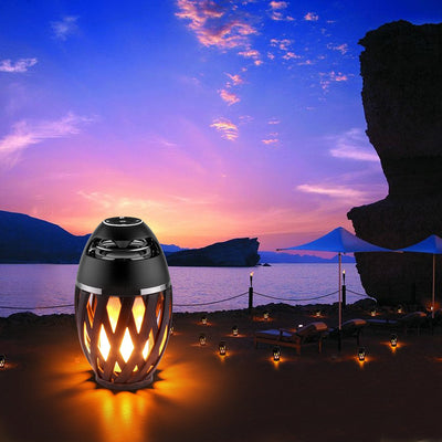 Led Flame Lamp - Stereo Bluetooth Speaker