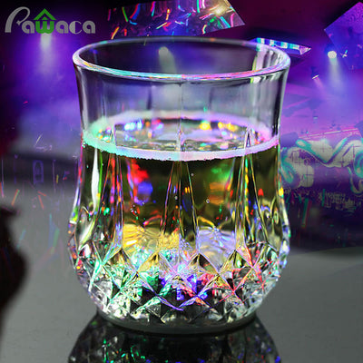 Cool LED Flashing Whiskey Shot Glass, Drink Wine Beer Whisky Automatic Sensor Light Up Mug/Cup for Christmas, Party, Bar Club, Birthday