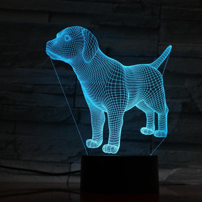 3D LED Mood Lamp - Loyal Puppy