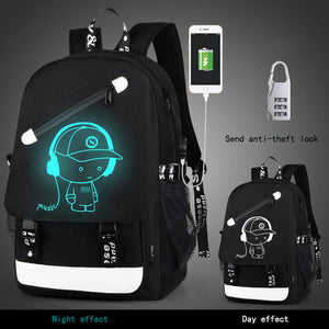 Anti-Theft Backpack - Luminous Prep Style280