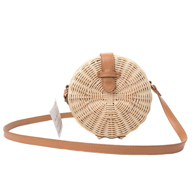 Bohemian Rattan Female Beach Handbag