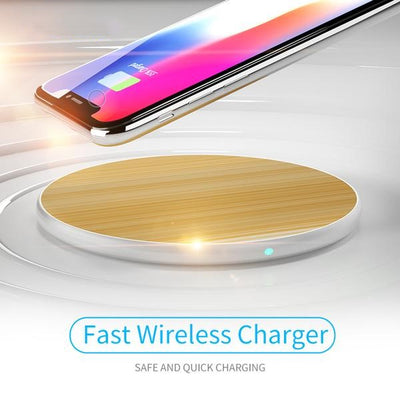 Luxury Bamboo Qi Wireless Charger
