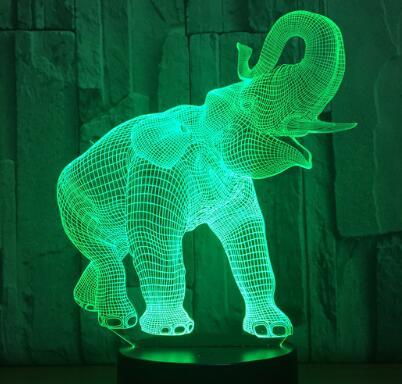 3D LED Lamp - Majestic Elephant
