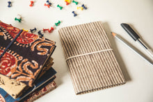 Traditional Hand Block Printed FabricJournal Notebook - Stripes