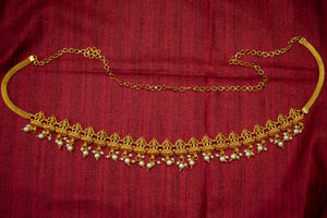 Antique Gold Lakshmi Pearl Hip Chain