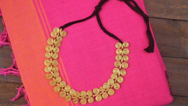 Tribal Dhokra Handmade Spiral Beads Necklace