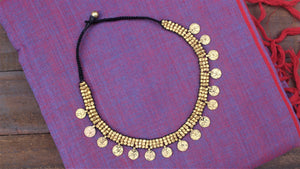 Handmade Tribal Dhokra Star Coins Necklace