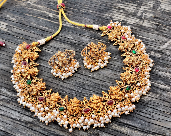 Narthana Ganesha Traditional Necklace