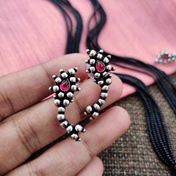 Traditional Maharashtrian Nath Mangalsutra with Earrings and Nath