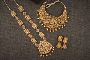 Gold Look Alike Nagas Semi Bridal Set