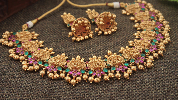 Traditional Nagas Gold Look Alike Necklace