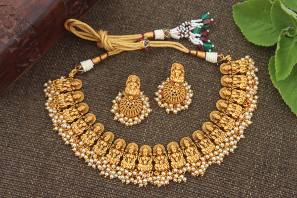 Nagas Lakshmi Antique Traditional Necklace