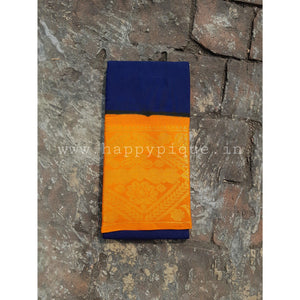 Long Border Plain Body Madurai Cotton Saree - Happy Pique