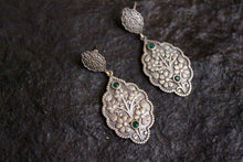 Mughal Floral Design Stone Studded Brass Studs