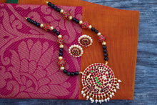 Big Kemp Annapakshi Pendant Agate Kemp Beads Necklace