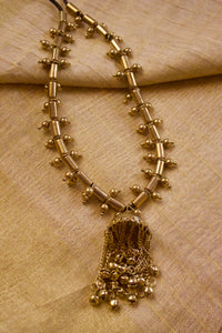 Antique Gold Afghan Tribal Jhumkey Necklace