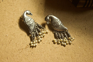 Brass Parrot Earrings