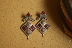 Kemp Stones Studded Ethnic Designer Geometric Earrings
