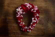 Soft Real Rose Like Bridal Bun Flower Accessory - Red & White