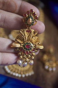 Annapakshi Designer Antique Gold Matte Bridal Combo